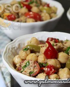 Salada de Grão de bico com Molho de Mostarda