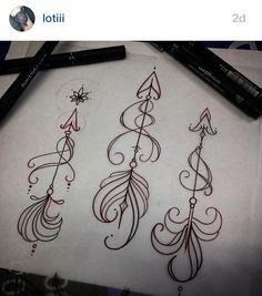 Arrows by Loti Beckett. Demzines Tattoo Studio. http://www.demzinestattoostudio.co.uk/