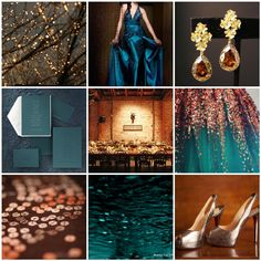 Colors - Teal and Copper  So when I renew my vows, these will be my colors.  Loooove em!