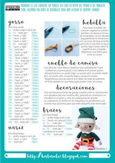 patron navidad elgo amigurumi bertorulez bertoso berto rulez Crochet Dolls, Crochet Hats, Kids Christmas, Xmas, Christmas Crochet Patterns, Tatting, Holiday Decor, Amigurumi Doll, Elf