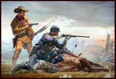 Final Stand - Indian Wars series by Master Box Limited American Indian Wars, Native American Indians, American History, Forte Apache, Civil War Art, West Art, American Frontier, Cowboy Art, Historical Art