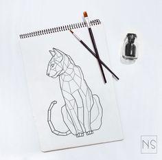 Nilova Sasha Tattoo/ SPb #тату #tattoo #геометрия #geometric #кошка #cat