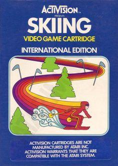 """Les """"Atari 2600 Rainbow Boxes"""" d'Activision - Skiing - 1980"""