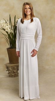 84c9850319 White Stretch Lace Top - White Elegance - Makers of LDS Temple Clothes