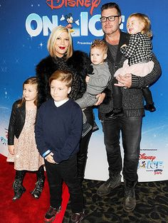 Star Tracks: Monday, December 15, 2014   FAMILY FIRST   Despite their marital woes, Tori Spelling and Dean McDermott take their four kids – Stella, 6, Liam, 7, Finn, 2, and Hattie, 3 – to Disney on Ice Presents Let's Celebrate on Thursday at L.A.'s Staples Center.