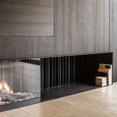 Modern Fireplace Mantles, Cabin Fireplace, Farmhouse Fireplace, Fireplace Remodel, Living Room With Fireplace, Fireplace Design, Built In Around Fireplace, Farmhouse Architecture, New House Plans