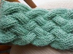 How-to Knit * Fake Entrelac * Braid Stitch * Cable Stitch * Knitting Stitch - YouTube