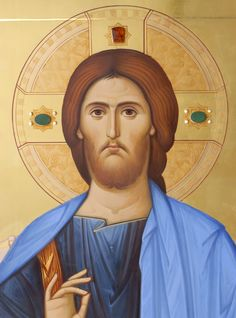 Icon of Saviour ( fragment) by hands of ANton Daineko . More you can see here http://ikona-skiniya.com/