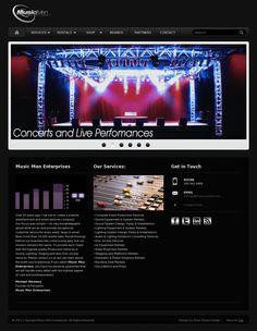 Web Design  Website 'http://musicmendj.com/'     by: roxxstudiodesign.com