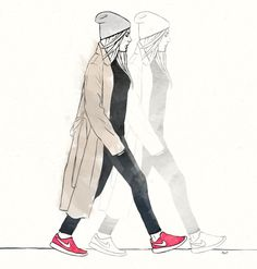 Fashion Illustration #street #fashion #illustration #nike
