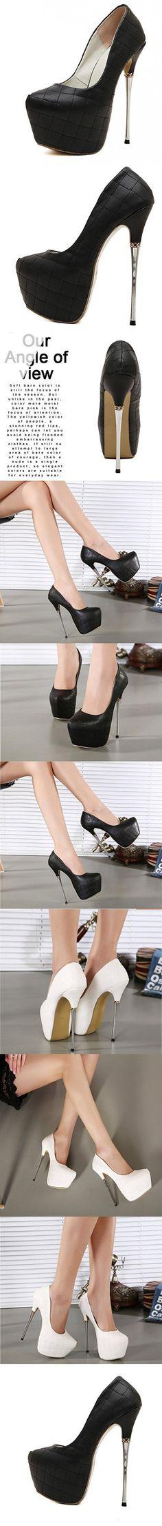 Sexy women shoes high heel wedding shoes platform ultra high heels 17cm air pumps round toe platform genuine leather stiletto