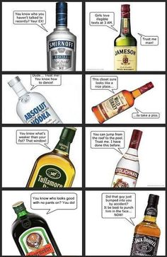 The alcohol bottles knows you best!