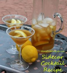 Sidecar Cocktail Recipe; The Sidecar, a classic cocktail of Cognac, Cointreau and lemon juice that dates back to the turn of the 20th century.  http://www.annsentitledlife.com/wine-and-liquor/sidecar-cocktail-recipe/