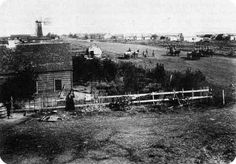 Mennonite Village of Reinfeld, Manitoba in 1898. History: Royden K. Loewen, Family, Church and Market: A Mennonite Community in the Old and New Worlds, 1850-1930