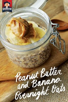 Save time on your breakfast routine by preparing Peanut Butter & Banana Overnight Oats, one of our favorite make-ahead breakfasts. Assemble and refrigerate it at night and you'll be ready to hustle out the door the next morning with a hearty on-the-go breakfast.
