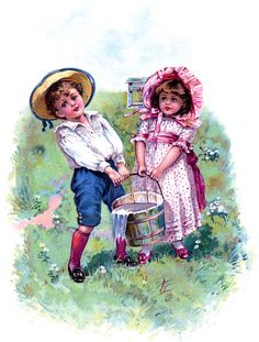 Vintage Jack and Jill Picture! Free from The Graphics Fairy