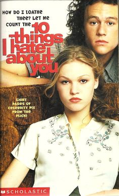 10 Things I Hate About You – Author: Levithan Publisher: Scholastic 78073 Year:… – Musik Iconic Movie Posters, Iconic Movies, Good Movies, Good Romance Movies, 1990s Movies, Cult Movies, Indie Movies, Comedy Movies, Classic Movies