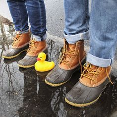 It's a duck boot world, everyone's just trying to fit in #tbt @llbean