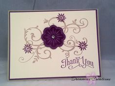This is a very nice and high quality Thank You card made with all Stampin' Up products.