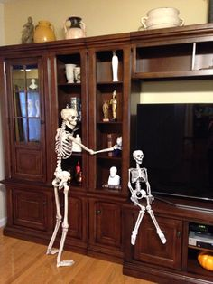 He is dusting! China Cabinet, Bones, Storage, Furniture, Home Decor, Purse Storage, Decoration Home, Chinese Cabinet, Room Decor