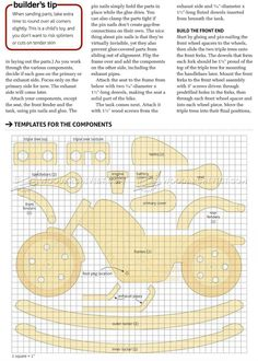 Rocking Motorcycle Plans - Children's Wooden Toy Plans and Projects Woodworking Projects That Sell, Woodworking For Kids, Diy Wood Projects, Woodworking Plans, Motorcycle Rocking Horse, Rocking Horse Plans, Toys For Girls, Kids Toys, Children's Toys