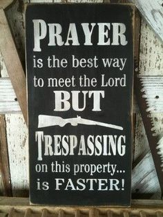 Items similar to Prayer / Trespass Sign, Subway Art, Stenciled Sign on Etsy Pallet Art, Pallet Signs, Diy Signs, Funny Signs, Shop Signs, Rustic Signs, Wooden Signs, Country Signs, Rustic Art
