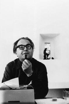 Henri Cartier-Bresson, Swiss writer, Max Frisch, at his home, Switzerland, 1966