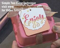 Video Simple Two Color Technique for beautiful cards & tags RemARKable Creations by Janet Wakeland  https://www.youtube.com/watch?time_continue=2&v=5D5F-h6R4uo