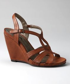 173f5805d84 all about fashion Brown Leather Wedges