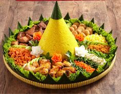 30 Best Tumpeng Nasi Kuning Images Indonesian Food Food Food And Drink
