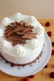 "Kiara`s cakes: Tarta ""Selva negra"" / Black Forest Cake Black Forest Cake, Vanilla Cake, Catering, Cheesecake, Pudding, Sweet, Desserts, Minis, Spanish"