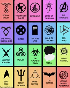 Fandoms And Their Symbols (Thankfully, not in all of them!)
