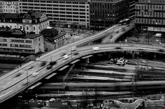 stockholm traffic - view from city house