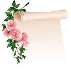 Pergamene/Parchments ~ Il Magico Mondo dei Sogni Framed Wallpaper, Flower Wallpaper, Vintage Diy, Vintage Cards, Boarders And Frames, Frame Background, Paper Background, Borders For Paper, Floral Border
