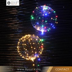 Light Wave Balloon LED Lamp String Transparent Balloon