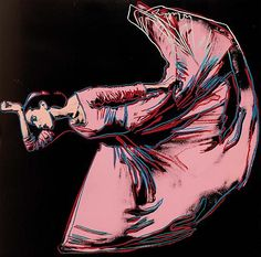 Andy Warhol, Martha Graham: Letter to the world (The kick), 1986 color screenprint, published by Martha Graham C.
