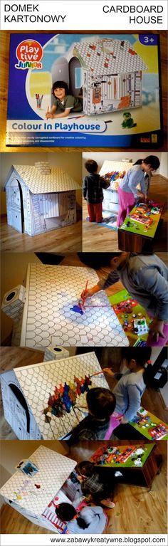 Zabawy kreatywne: Domek kartonowy z marketu zamiast plastikowych zab...