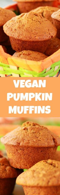Perfectly moist vegan pumpkin muffins packed with pumpkin flavor and pecans! Deliciously fall flavored goodness, delicious served with or without vegan butter. Vegan | Vegan Muffins | Vegan Breakfast | Vegan Desserts #vegan #muffins #vegandessert #veganbreakfast