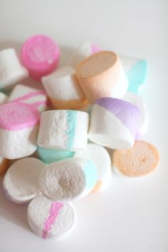 Neon Painted Marshmallows: http://www.stylemepretty.com/living/2015/06/11/top-15-easiest-party-diys-ever/