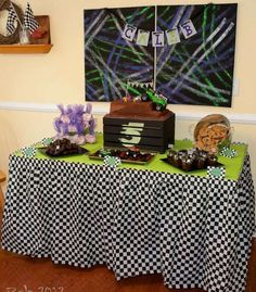 monster trucks/racing/cars Birthday Party Ideas | Photo 1 of 15 | Catch My Party