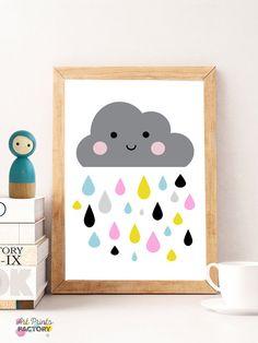 Bunte Wolke druckt Cloud-Wanddekor von ArtPrintsFactory auf Etsy