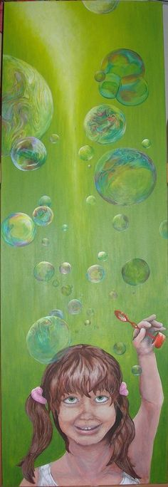 Therese Walland | paintings, #children #bubbles