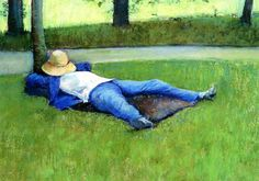 The Nap,  1877  Gustave Caillebotte 