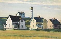Lighthouse Village (Also Known As Cape Elizabeth) by Edward Hopper
