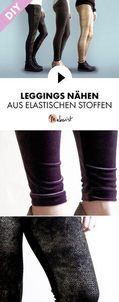 Leggings nähen lernen - Schritt für Schritt erklärt im Video-Kurs via Makerist.de