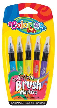 Carioca cu varf tip pensula, Patio, 5/blister Instrumente de scris si accesorii - Papetarie.ro