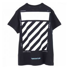 483ec39b65db OFF-WHITE c o Virgil Abloh MENS DIAG TEMPERATURE S S TEE BLACK