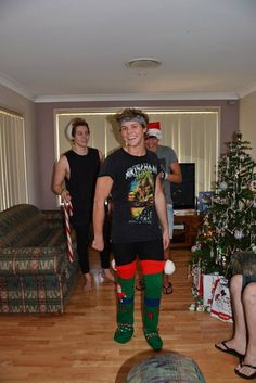 Jolly 5sos<<<< in which Ashton tried to wear stockings as actual stockings.........