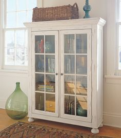 Attic Heirlooms Library Cabinet by Broyhill Bookcase With Glass Doors, Glass Cabinet Doors, China Cabinet, Furniture Makeover, Home Furniture, Library Cabinet, Armoire, Up House, Country Decor