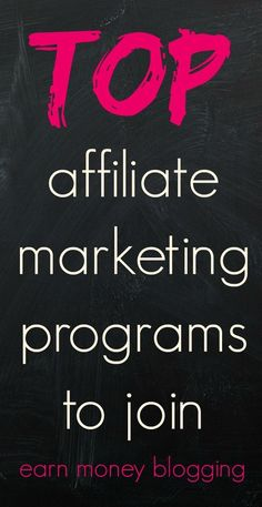 Top affiliate marketing programs to join See how I broke free from the…